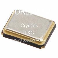 TXC AM-28.63636MAGK-T Crystal 3.2MMX2.5MM 28.63636MHZ SMD
