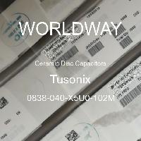 0838-040-X5U0-102M - Tusonix - Condensadores de disco de cerámica