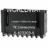 5-102203-5 - TE Connectivity AMP Connectors - Headers & Wire Housings