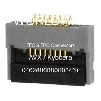 046288008000846+ - AVX Corporation - FFCおよびFPCコネクタ