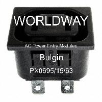 10 pieces AC Power Entry Modules SNAP-FIT 1.5MM PNL OUTLET,6.3MM TAB
