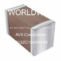 0603ZC154MAT4A - AVX Corporation - Multilayer Ceramic Capacitors MLCC - SMD/SMT