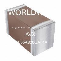 06035A820GAT4A - AVX Corporation - Condensateurs céramique multicouches MLCC - S