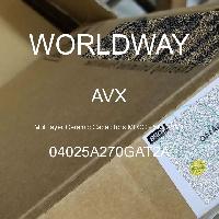 04025A270GAT2A - AVX Corporation - Condensateurs céramique multicouches MLCC - S