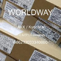 086212033340800 - AVX Corporation - FFCおよびFPCコネクタ