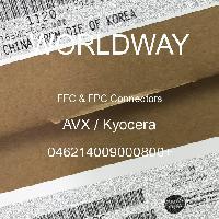 046214009000800+ - AVX Corporation - FFCおよびFPCコネクタ
