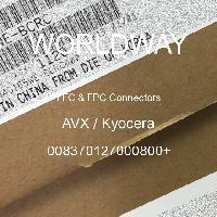 008370127000800+ - AVX Corporation - FFCおよびFPCコネクタ