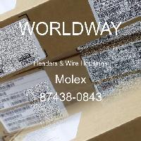 87438-0843 - Molex - Encabezados y carcasas de cables