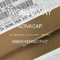 0805E181K501PHT - NOVACAP - Kapasitor Keramik Multilayer MLCC - SMD / SMT