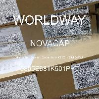 0805E681K501PHT - NOVACAP - Capacitores de cerâmica multicamada MLCC - SM
