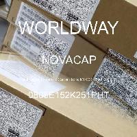 0805E152K251PHT - NOVACAP - Capacitores de cerâmica multicamada MLCC - SM