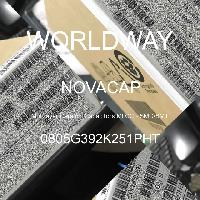 0805G392K251PHT - NOVACAP - Multilayer Ceramic Capacitors MLCC - SMD/SMT