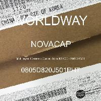 0805D820J501PHT - NOVACAP - Multilayer Ceramic Capacitors MLCC - SMD/SMT