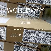 0603J1000560GQT - Syfer - Condensatoare ceramice multistrat MLCC - SMD