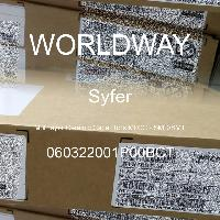 060322001P00BCT - Syfer - Multilayer Ceramic Capacitors MLCC - SMD/SMT