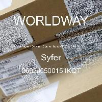 0603J0500151KQT - Syfer - Capacitores cerámicos de capas múltiples (MLC