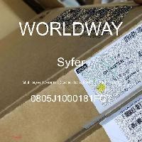 0805J1000181FCT - Syfer - Capacitores cerámicos de capas múltiples (MLC