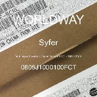 0805J1000100FCT - Syfer - Multilayer Ceramic Capacitors MLCC - SMD/SMT