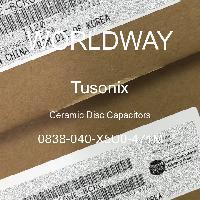 0838-040-X5U0-471M - Tusonix - Kapasitor Cakram Keramik